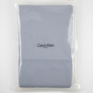 Solid Lavender Queen Flat Sheet, Double Row Cord Hyacinth by Calvin Klein