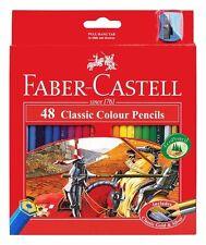48 FABER CASTELL Classic Colour Pencil Art Colouring Pencils + FREE sharpener