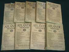 1925 THE ATLANTIC MONTHLY MAGAZINE LOT 9 ISSUES - NICE COLOR ADS - WR 450D