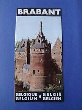 BRABANT BELGIUM TRAVEL BOOKLET BROCHURE TOURIST INFORMATION ART VINTAGE SOUVENIR