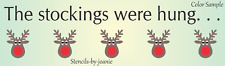 Joanie Lg Christmas Stockings Hung Reindeer Red Nose Hang Fireplace Holiday Sign