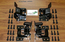 Door Hinge Set 68 69 4pc Upper Lower w/ Mounting Bolt kit 30 pc correct head