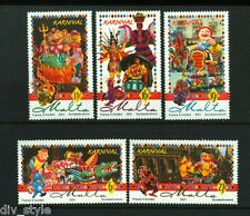 Carnival! set of 5 stamps + Souvenir Sheet mnh 2001 Malta #1036-41