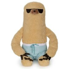 Gund Pusheen Sloth with Surf Board Beach Shorts Sunglasses 9.5 Plush Toy Mascot