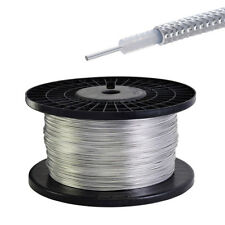 """3 Feet / 1m RG405 .086"""" Semi-rigid Coax Cable with Tinned Copper Outer Conductor"""