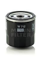 Mann & Hummel Oil Filter W 712 - BRAND NEW - GENUINE - 5 YEAR WARRANTY