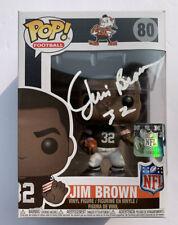 Jim Brown Signed Autographed NFL Funko Pop Cleveland Browns Goat HOF PSA/DNA