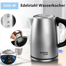 MIC Edelstahl Wasserkocher 3000W 1,7 Liter Kabellos Wasserkocher Teekocher LED