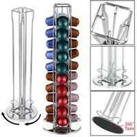 40 Rotating Capsule Coffee Pod Holder Tower Stand Rack Revolving For Nespresso