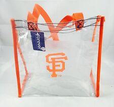 MLB San Francisco Giants Clear Reusable Plastic Pvc Tote Bag -see Throgh