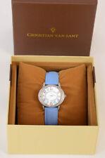 Christian Van Sant Jazz silver crystal embellished oval quartz ladies watch $150