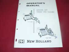 New Holland 87 Hay Baler Operator's Manual WPNH Color
