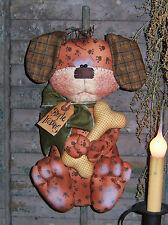 Primitive Raggedy Pawpy Dog Door Doll Bone Paper Pattern #110