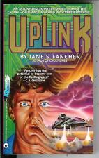UPLINK by Jane Fancher, rare US Questar Book sci-fi cyberpunk pulp vintage pb