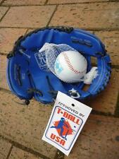 T-Ball USA T100 Teeball BLUE Junior Fielding Glove & Ball catchers mitt baseball
