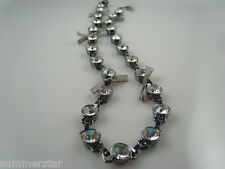 Close out J.Crew Crystal Bow Tie Black Necklace