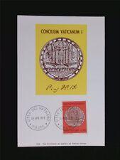 VATICAN MK 1970 MEDAILLE KONZIL MAXIMUMKARTE CARTE MAXIMUM CARD MC CM c6219