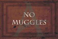 No Muggles Poster, Harry Potter, Hermione Granger, Ron Weasley, Fan Art,Hogwarts