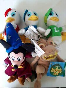 DISNEY STORE Figures OFFICIAL Mini Beanie Plush Rare Toy - Choose Figure VINTAGE