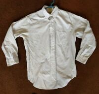 LL Bean Men's 16/33in Single Needle White Long Sleeve Button Down Collared Shirt