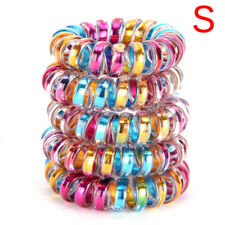 5 PCS Elastic Telephone Wire Head Ties Hair Band Rope Ponytail Jewelry Ring AU P