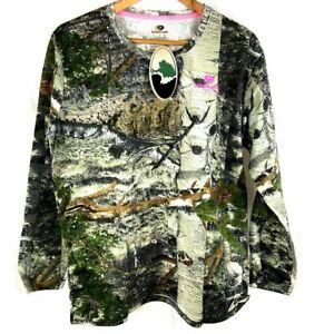 Mossy Oak Break-up Infinty Women's/Ladies Camo Long Sleeve Crew T-Shirt XL