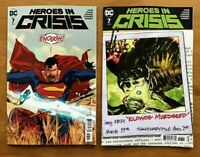 Heroes In Crisis 7 2019 Mitch Gerads Main Cover +  Ryan Sook Variant Cover DC NM