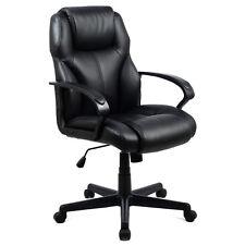 pu leather ergonomic high back executive computer desk task office chair black