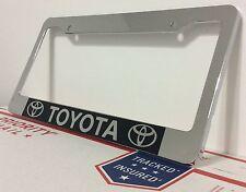 Chrome TOYOTA Personalized Custom  License Plate Frame tag holder GIFT PRESENT