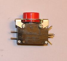 Acro Robertshaw 293 5001 00 Pushbutton Switch 15A, 125.250V, 1/2HP/1HP, 1N0, 1NC