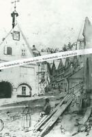 Schiltach im Schwarzwald - Nach einem Gemälde von Karl Weysser - um 1870  S 23-2