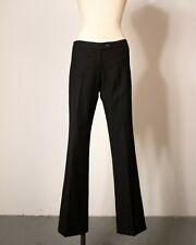 1990s Alexander McQueen black wool ultra low-rise trousers