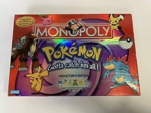 Pokemon Gold and Silver Monopoly 2001 Collectors Edition Rare Lugia