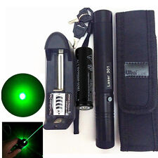 10 Miles Green 1mW 532nm Laser Pointer Pen Light Burning Zoom +Battery & Charger
