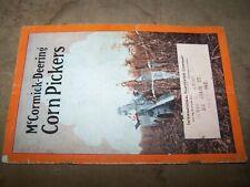Vintage 1930's McCormick-Deering Corn Pickers Brochure Booket