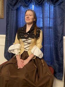 5 Piece 18th Century Colonial Rev War Outlander Or Poldark Costume Set.