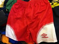 VINTAGE FOOTBALL SHORTS  umbroIN  30 32 34NCH WHITE AT £10 each IN 1980S