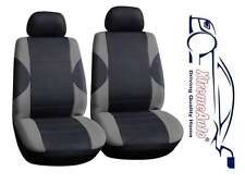 6 PCE Paddington Black/Grey Front Car Seat Covers For Renault Clio Megane Scenic