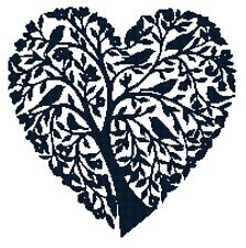 Cross Stitch Chart Heart Tree of Life (2)  Aida Needlework Picture Craft