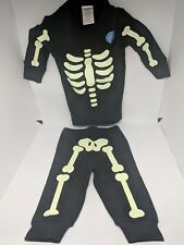 Gymboree Glow In The Dark Skeleton Jogger Set Size 3-6 Months New