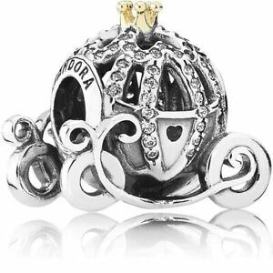 Genuine Pandora 925 ALE Disney Cinderella's Pumpkin Coach Charm 791573CZ