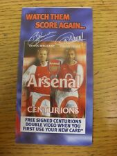2003/2004 Arsenal: Official Club Credit Card Application Form/Brochure. Unless p