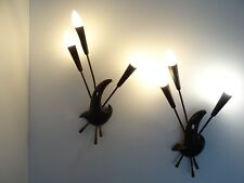 ancienne applique ARLUS sconce french wall light design 1950 jouve lunel biny