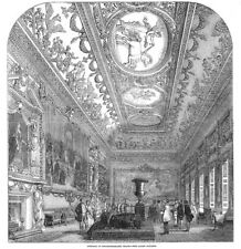 LONDON The Gallery at Northumberland House - Antique Print 1851