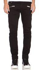 Diesel Black Biker Jeans W32 Stretch Denim RRP £259  Gold Fit