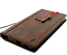 Genuine Vintage Leather Case for Samsung Galaxy a51 Wallet ID Book Soft Luxury