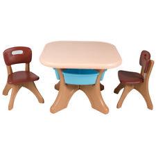 Children Kids Activity Table & Chair Set Play Furniture W/Storage Indoor/Garden