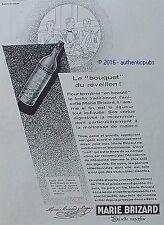 PUBLICITE MARIE BRIZARD ANISETTE LE BOUQUET DU REVEILLON DE 1929 FRENCH AD PUB