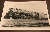 Vintage Photo Boston & Maine Railroad loco 4100 and train Worcester MA