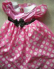 Disney Minnie Mouse pink Dress white dots:dress-up pretend play costume sz 4-6X